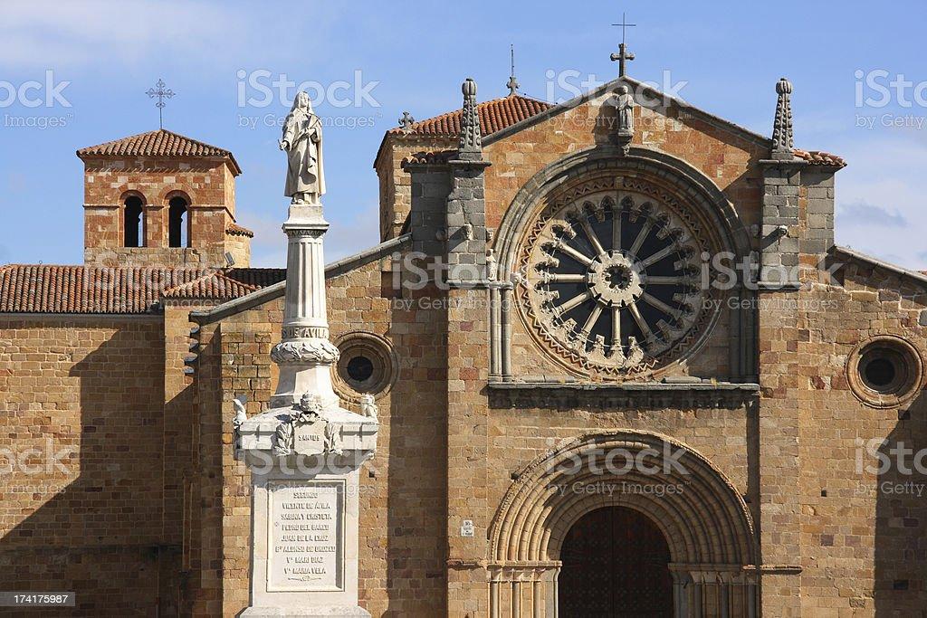 Church in Avila stock photo