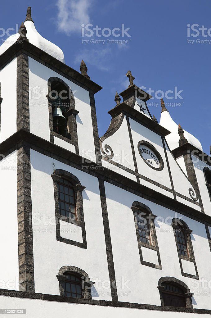 Church in Azores royalty-free stock photo