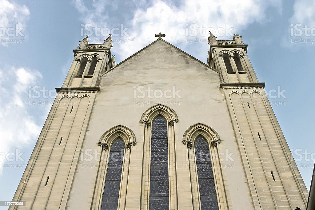 Church in Bayeux. Normandy, France stock photo