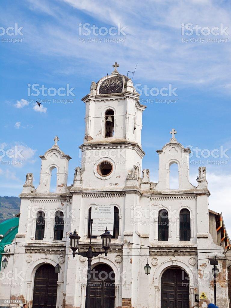 Church in Bello, Medellin, Colombia stock photo