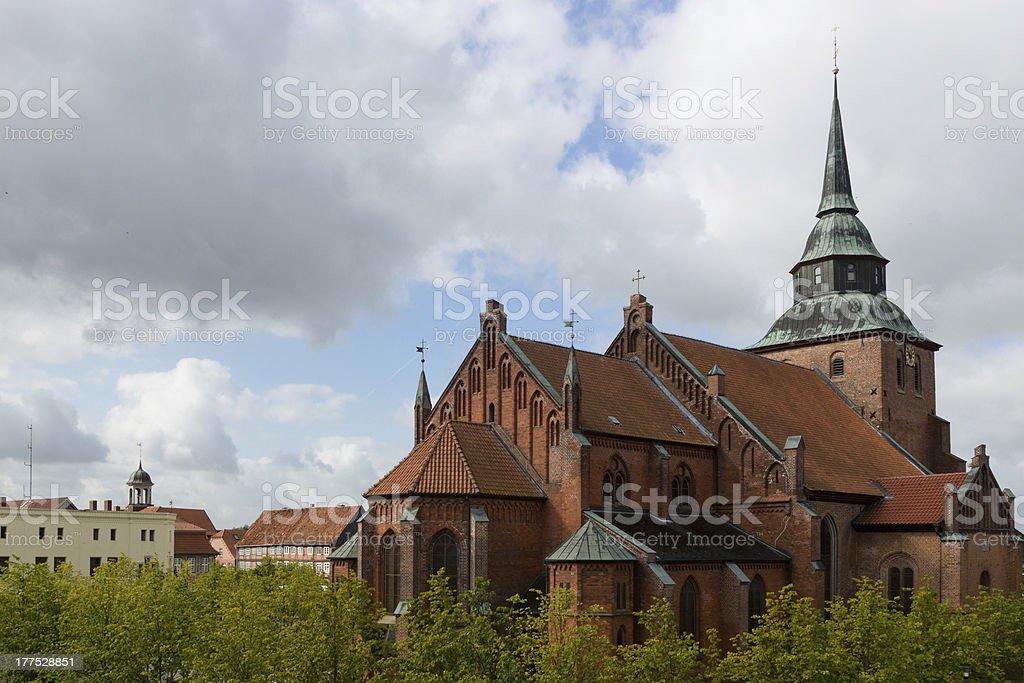 Church in Boizenburg (Germany) stock photo
