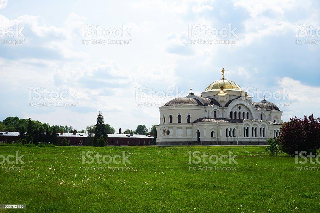 Church in Brest. St. Nicholas Churc stock photo