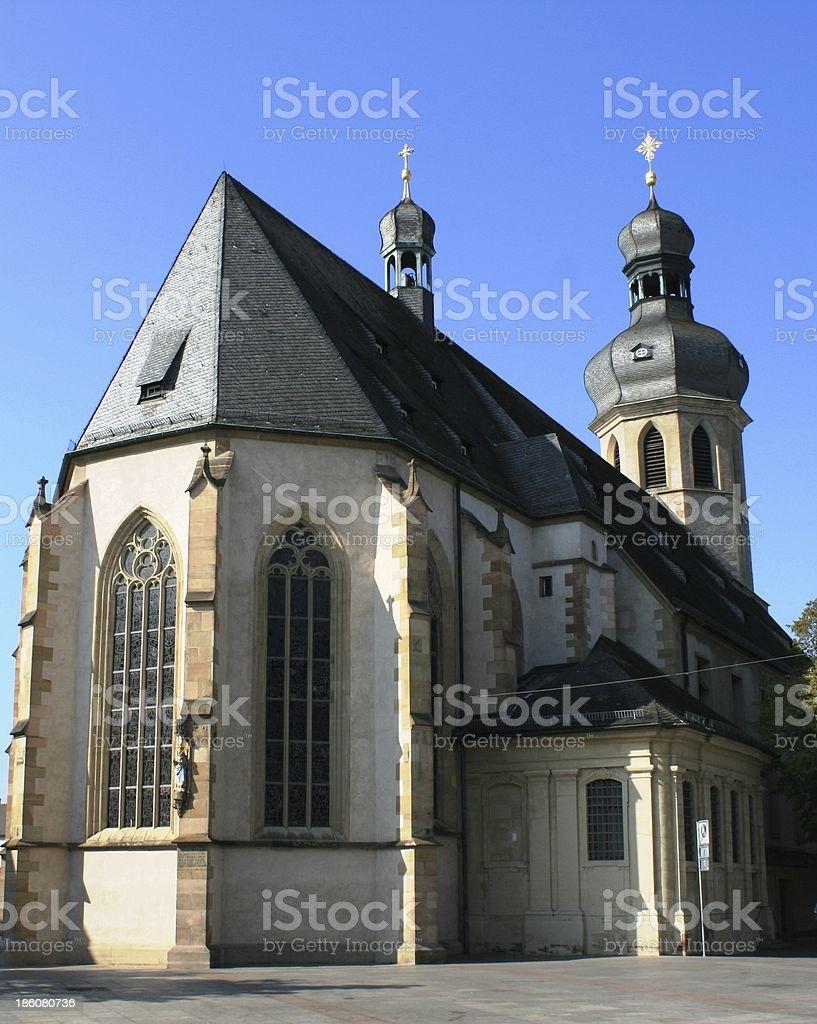 Church in Bruchsal stock photo