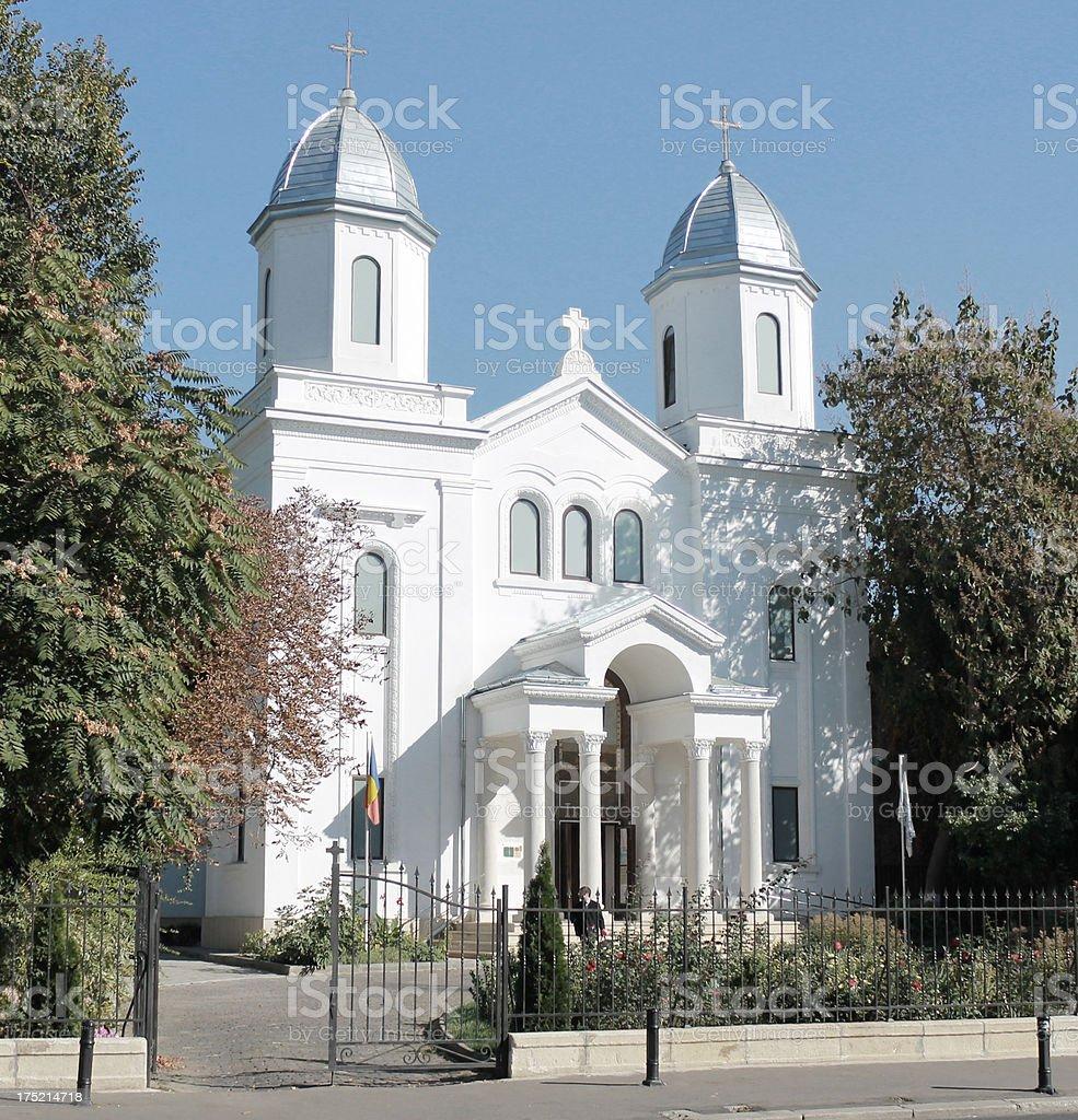 Church in Bucharest, Romania royalty-free stock photo