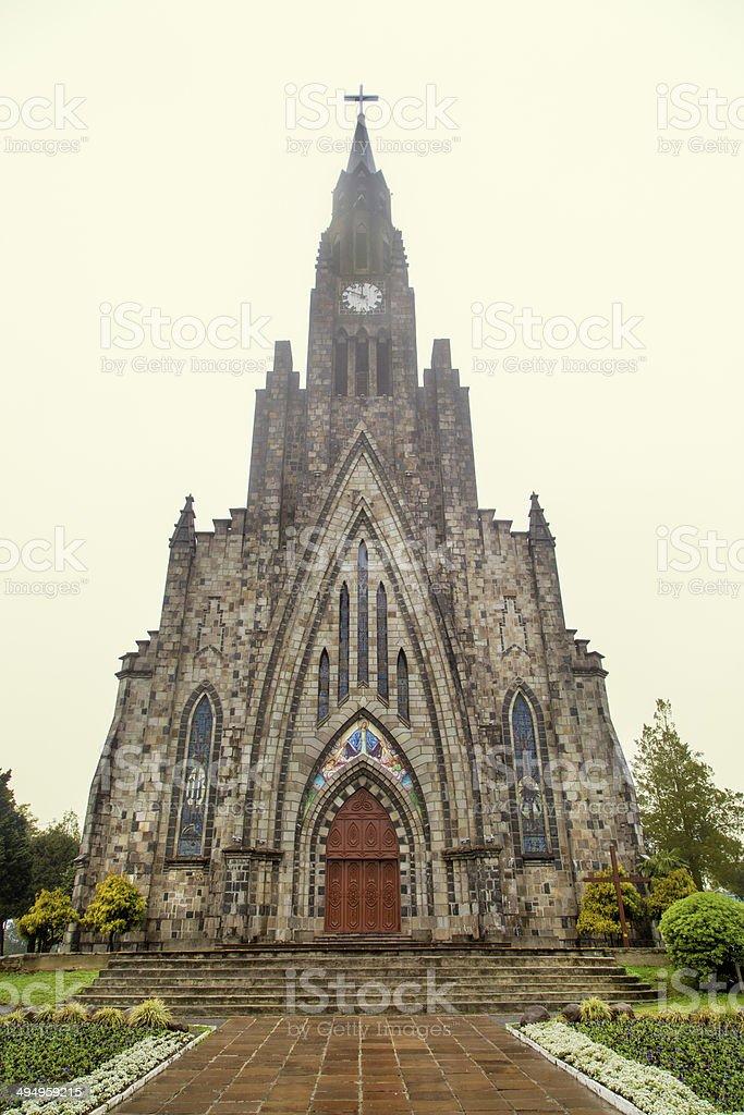 Church in Canela, Rio Grande do Sul State, in Brazil royalty-free stock photo
