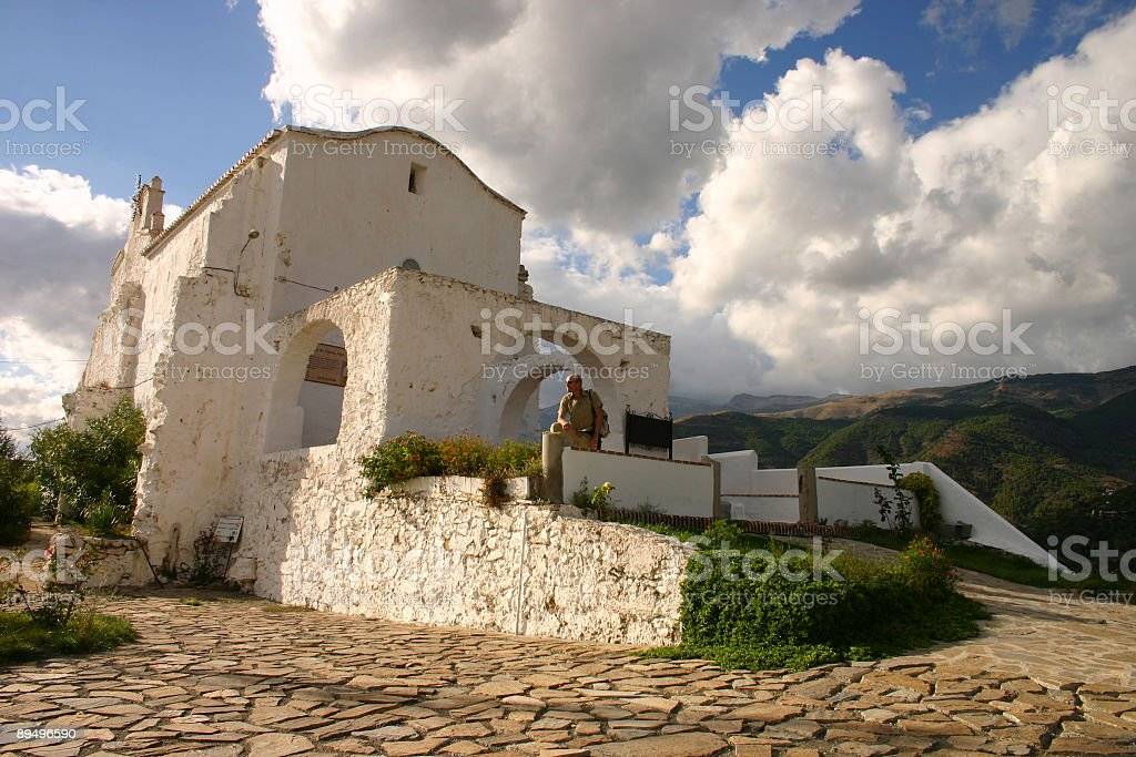 Church in Canillas Andalusia royalty-free stock photo