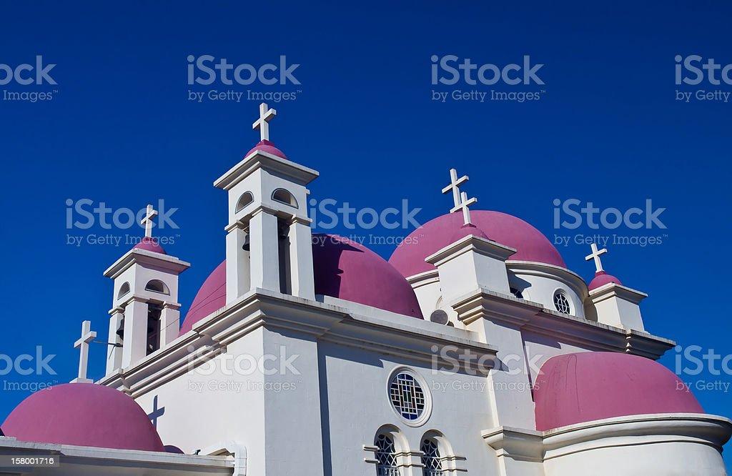 church in Capernahum stock photo