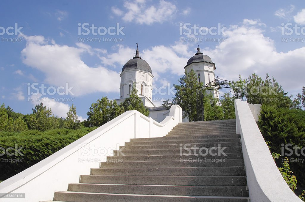 Church in Celic Dere Monastery,  Romania stock photo