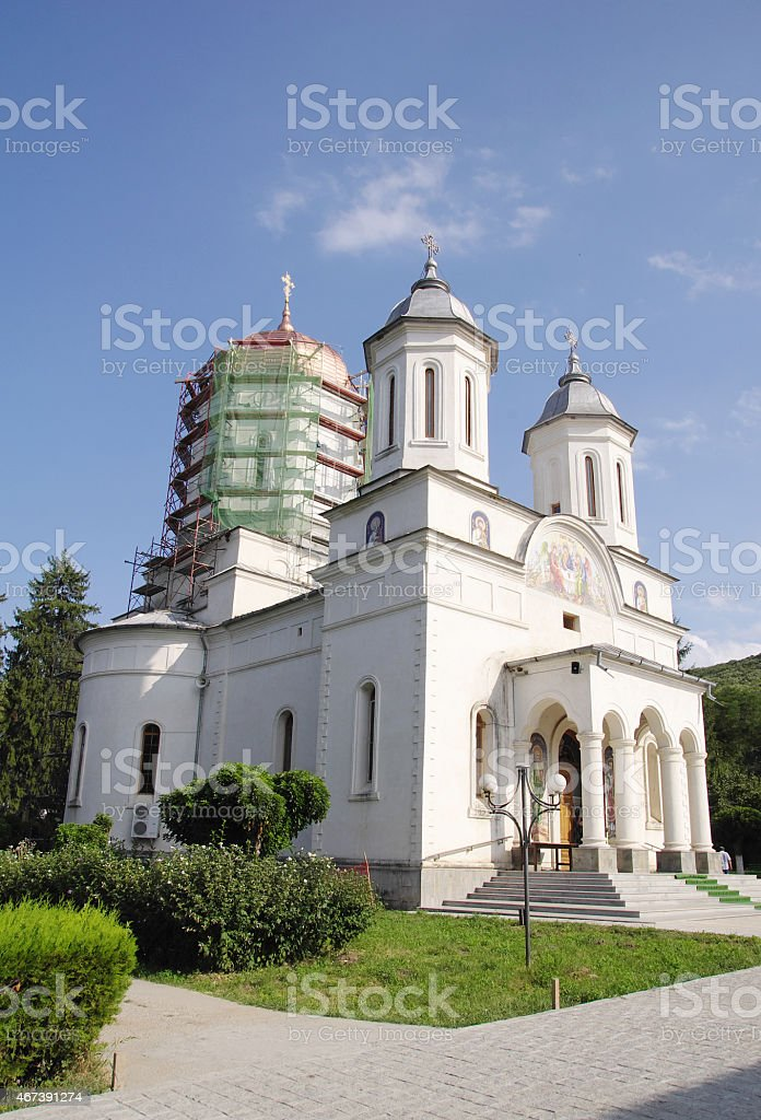Church in Cocos Monastery,  Dobrogea , Romania stock photo