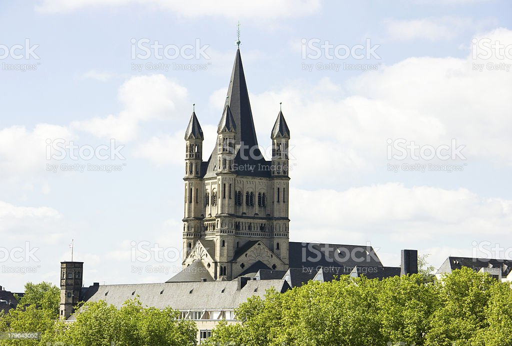 Church in Cologne stock photo