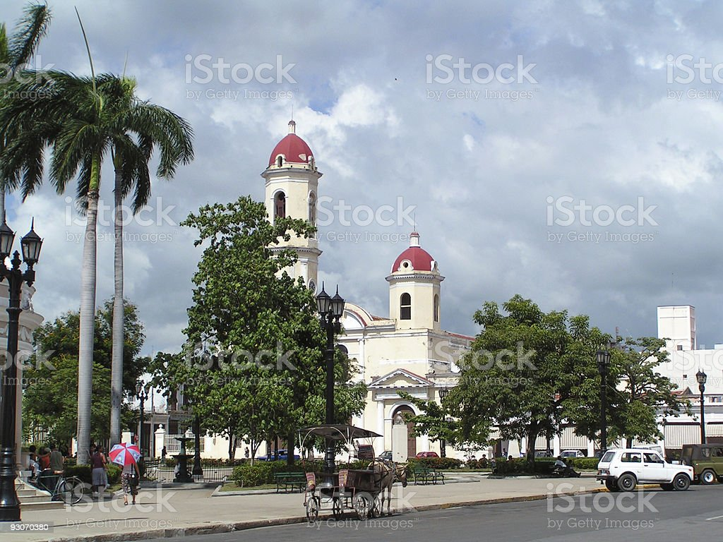 Church in Cuba stock photo