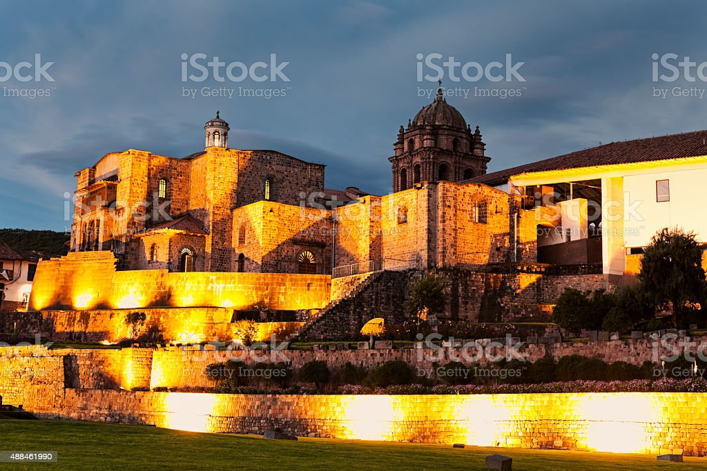 Church in Cuzco stock photo