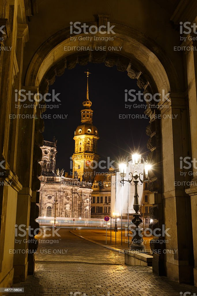 Church in Dresden stock photo