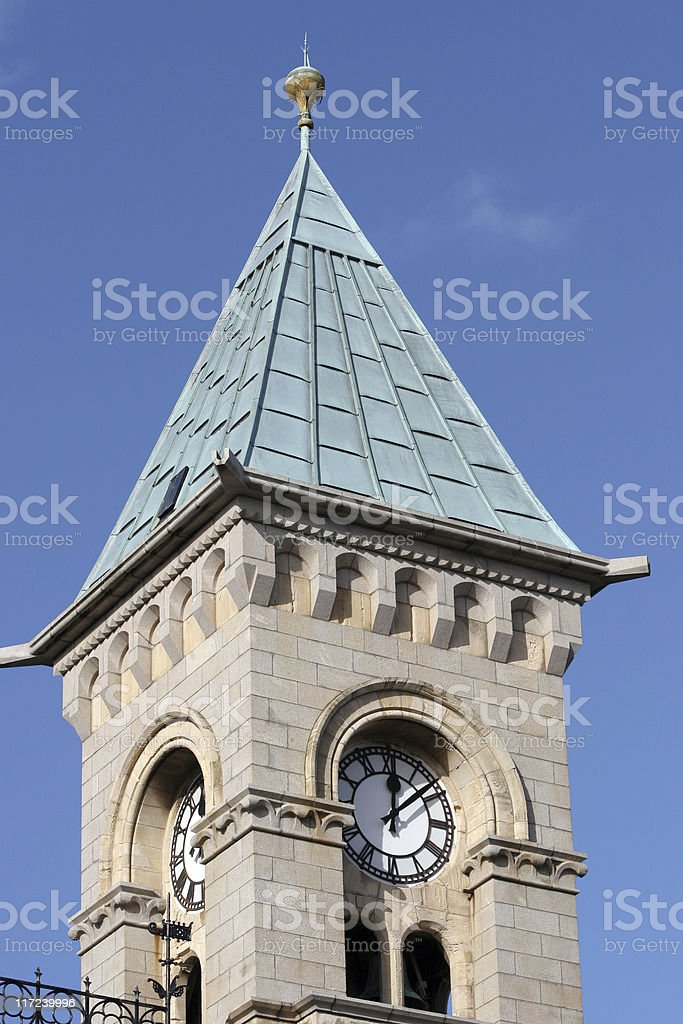 Church in Dun Laoghaire stock photo