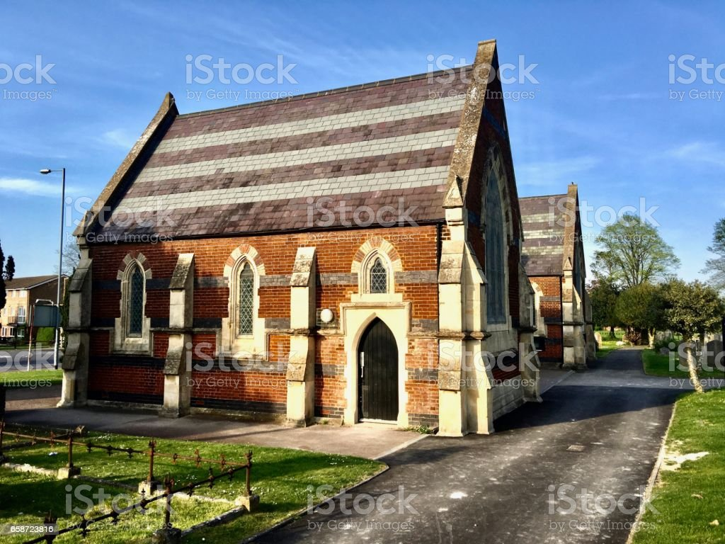 Church in Dunstable stock photo
