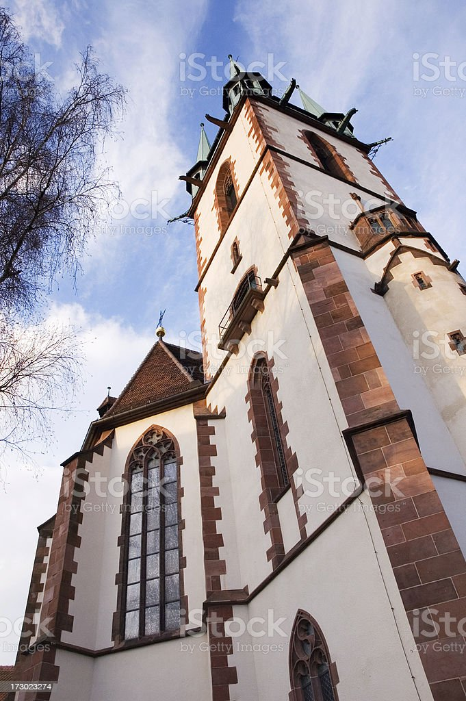 Church in Durlach, Germany stock photo