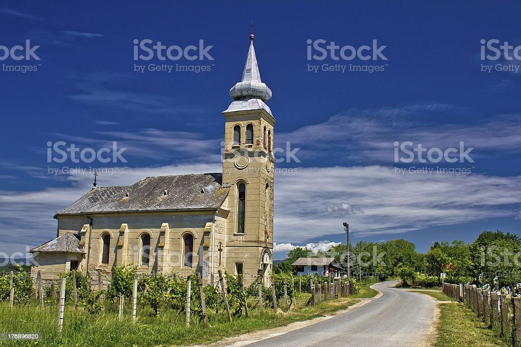 Church in Erdovec village, Croatia royalty-free stock photo