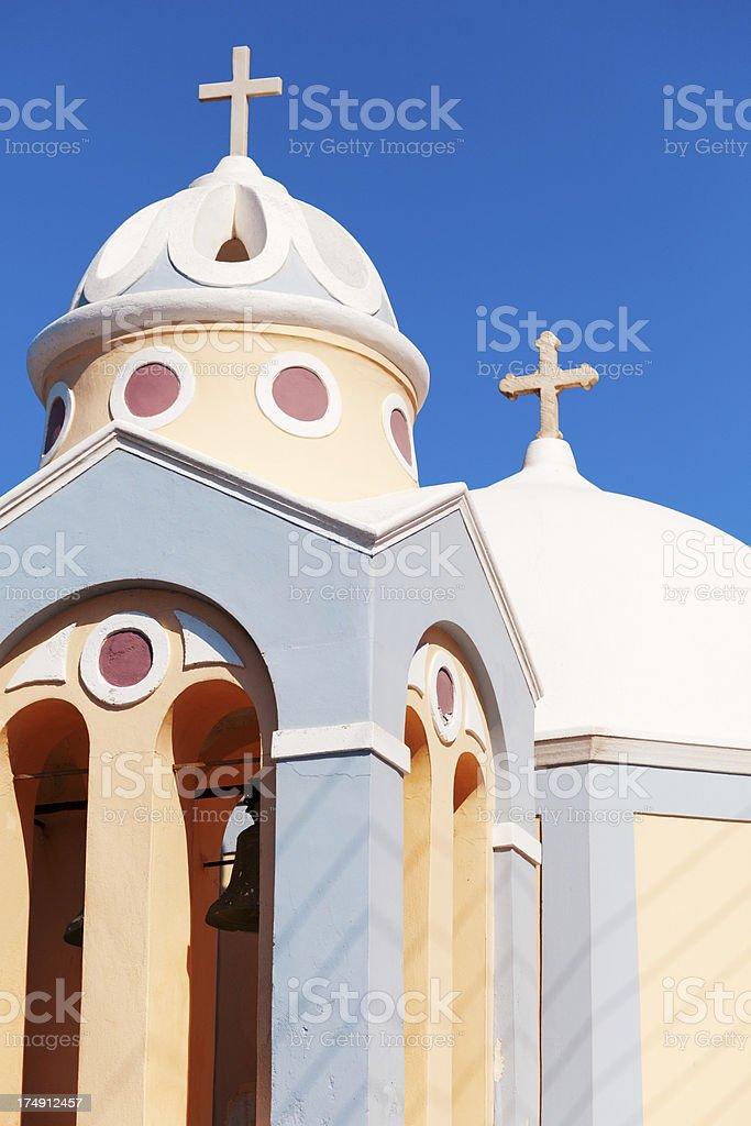 Church in Firostefani, Santorini royalty-free stock photo