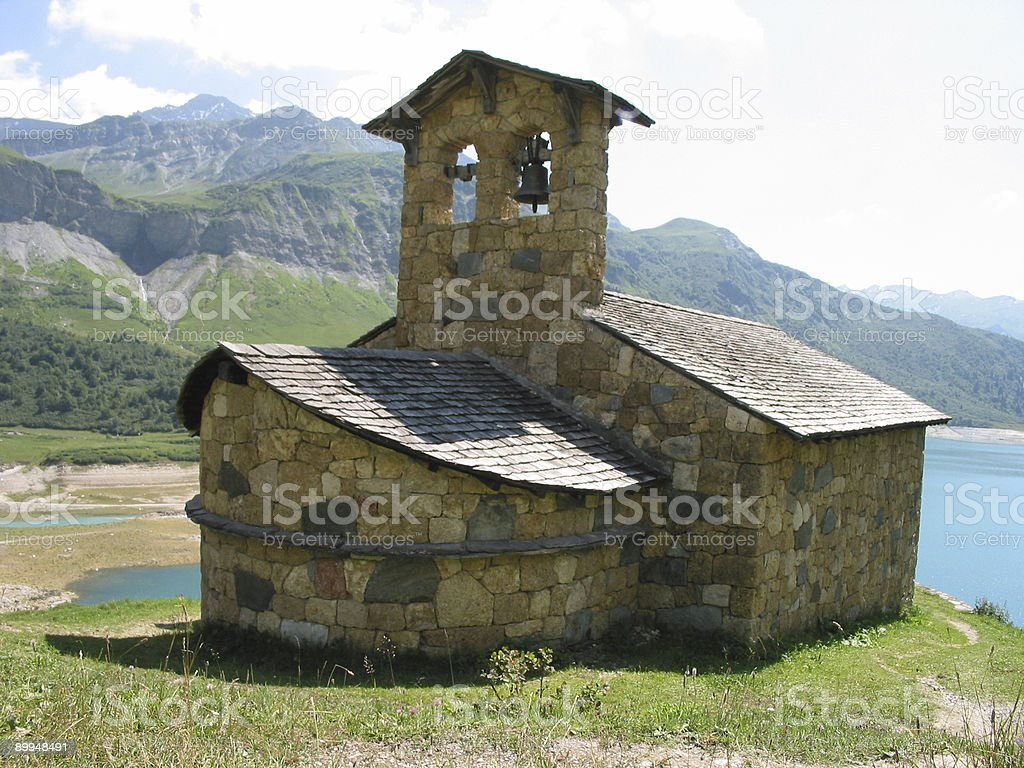 Church In French Alps stock photo