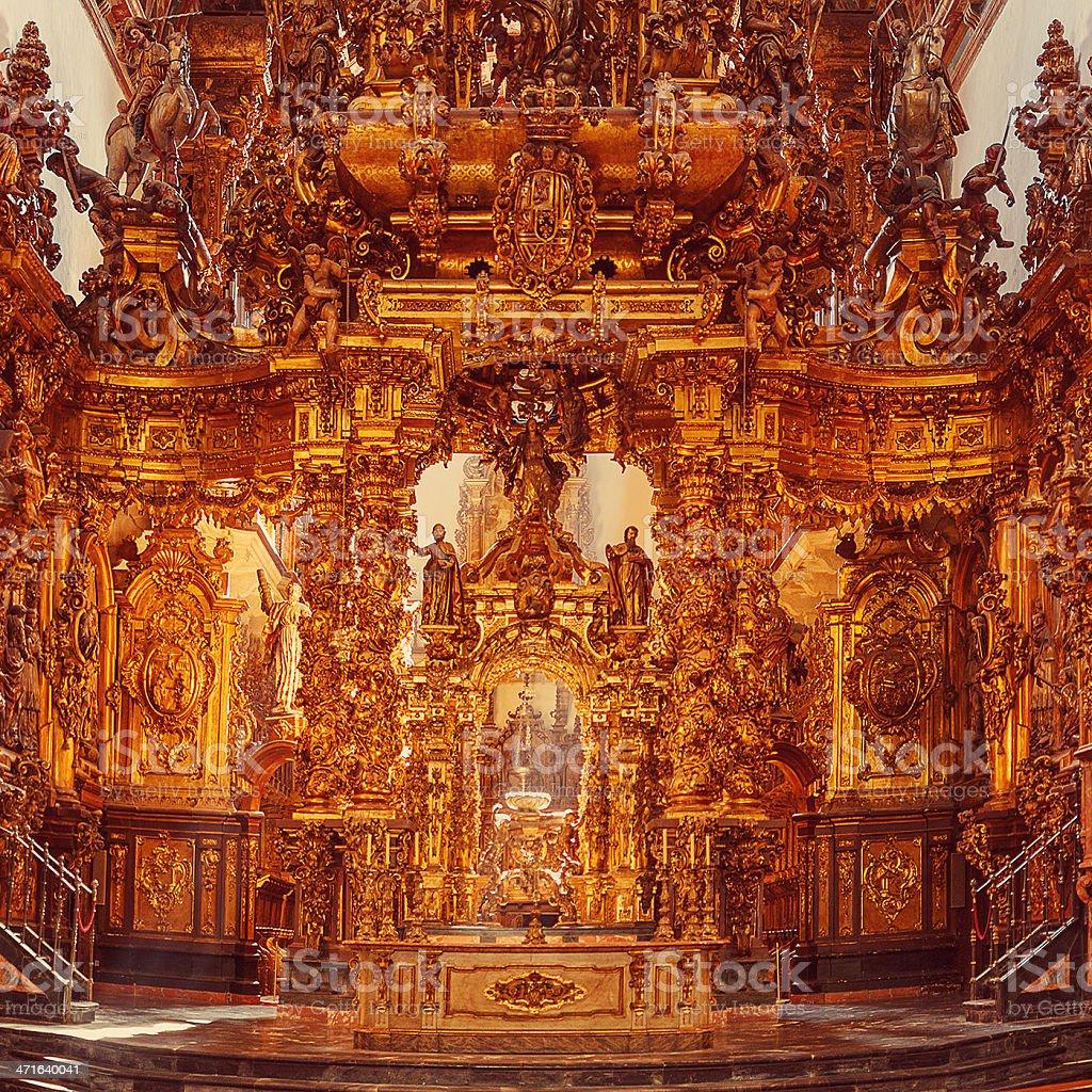church in galicia royalty-free stock photo