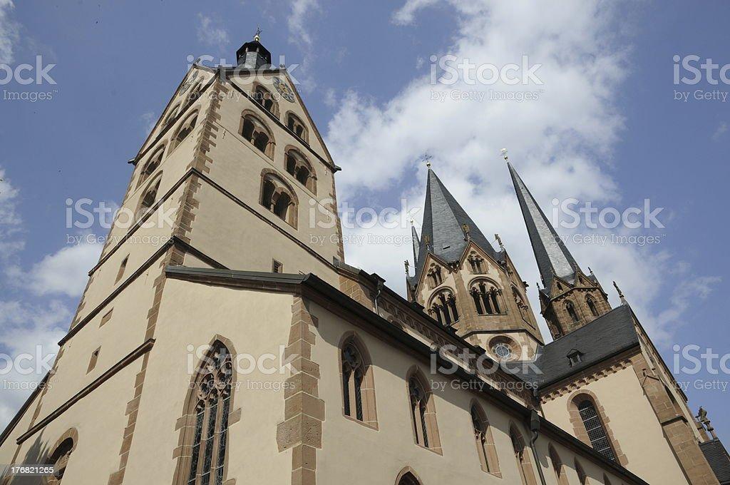 Church in Gelnhausen, Germany stock photo