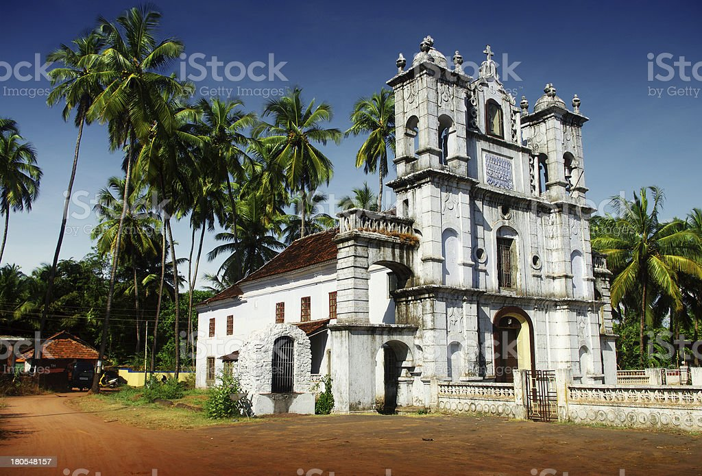 church in Goa royalty-free stock photo