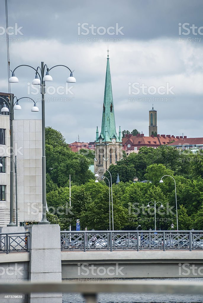 Church in Gothenburg royalty-free stock photo