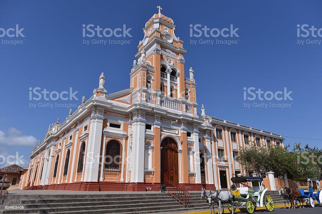 Church in Granada, Nicaragua stock photo