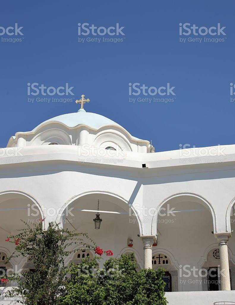 Church in Greece stock photo