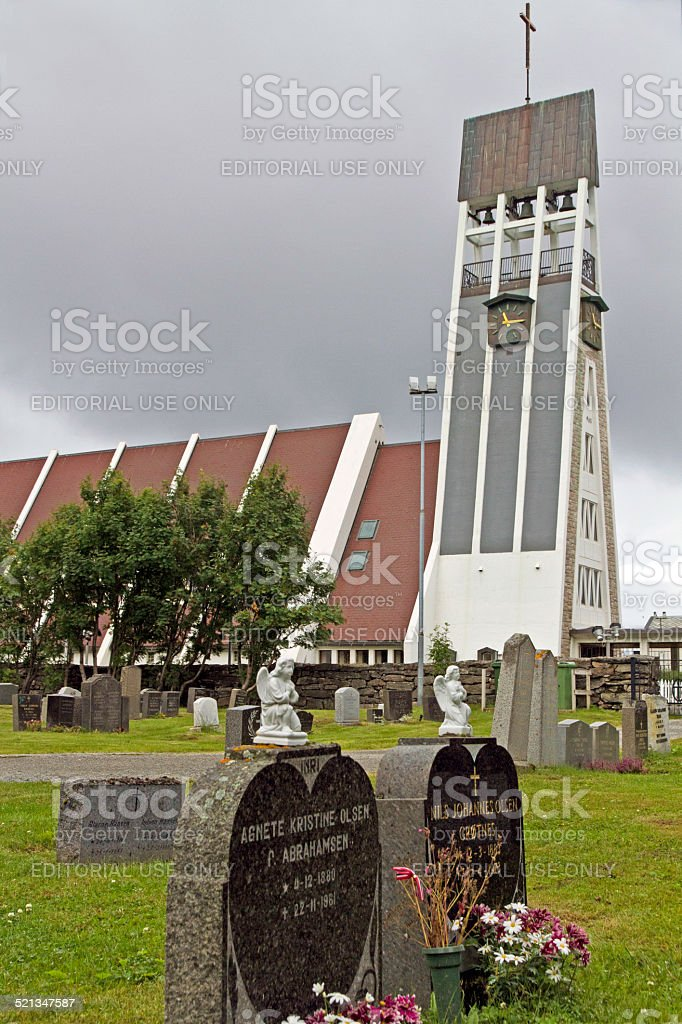 Church in Hammerfest, Norway stock photo