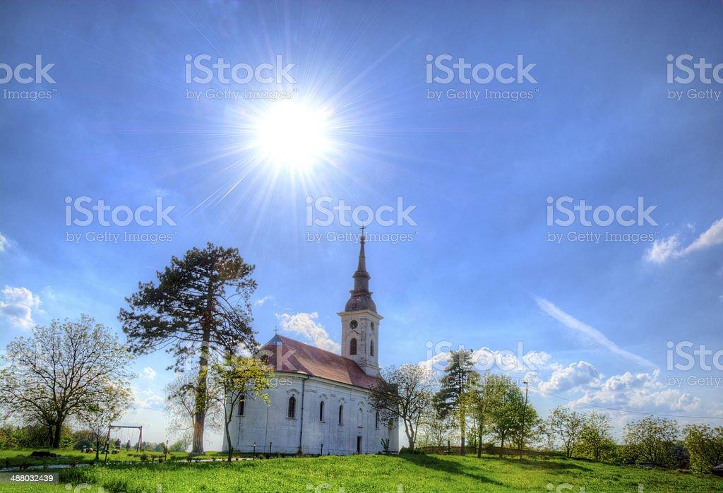 Church in hdr stock photo