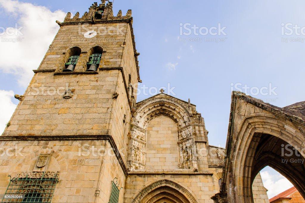 Church in Historic Centre of Guimaraes, Portugal. UNESCO World Heritage stock photo