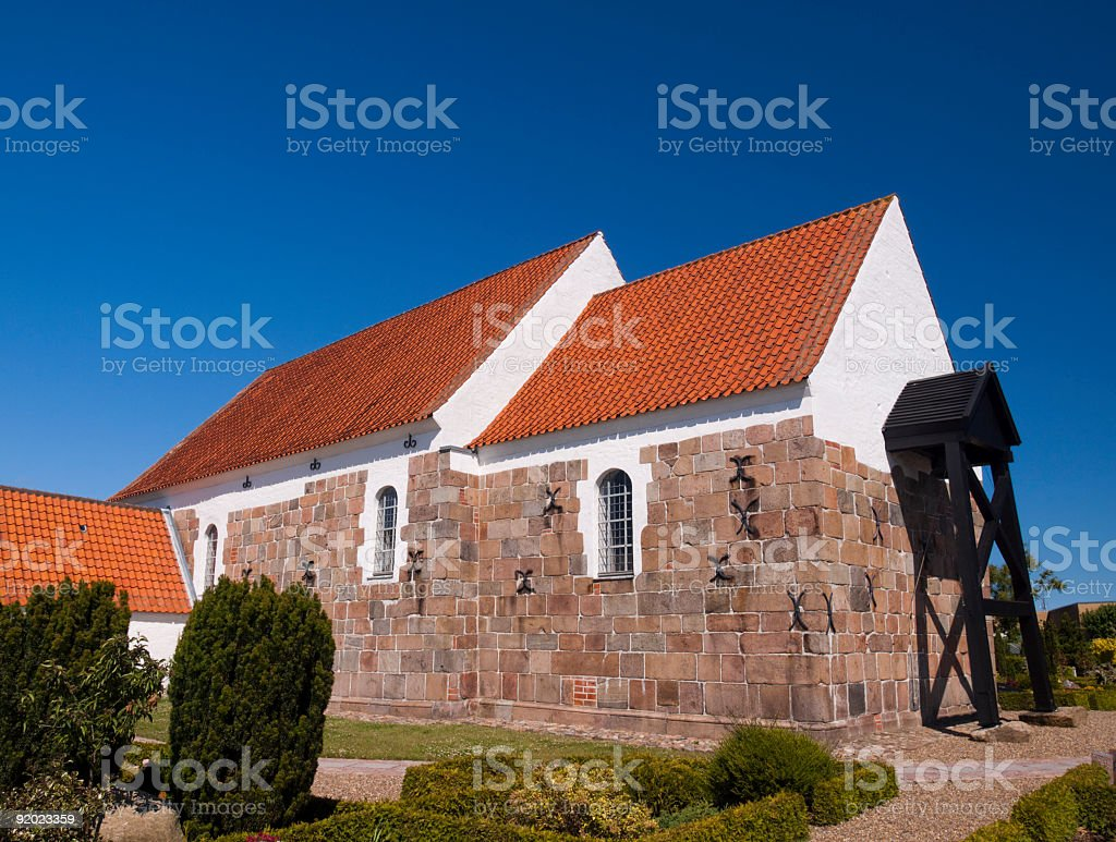 Church in Hjørring royalty-free stock photo