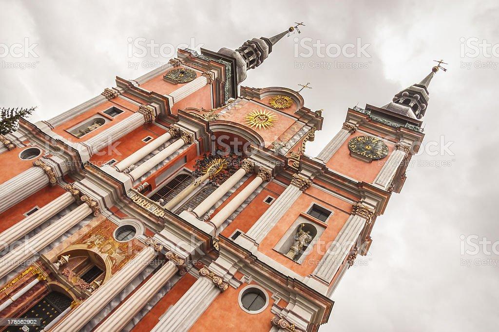 Church in holy Lipka - Poland. stock photo