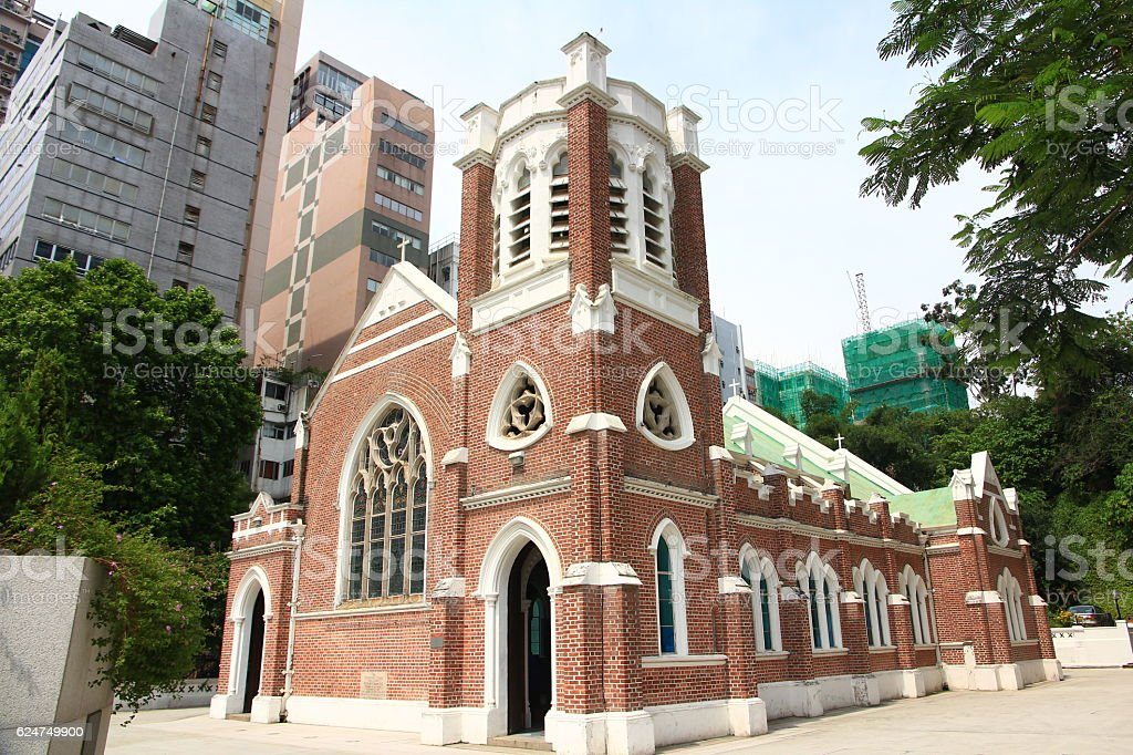 Church in Hong Kong stock photo