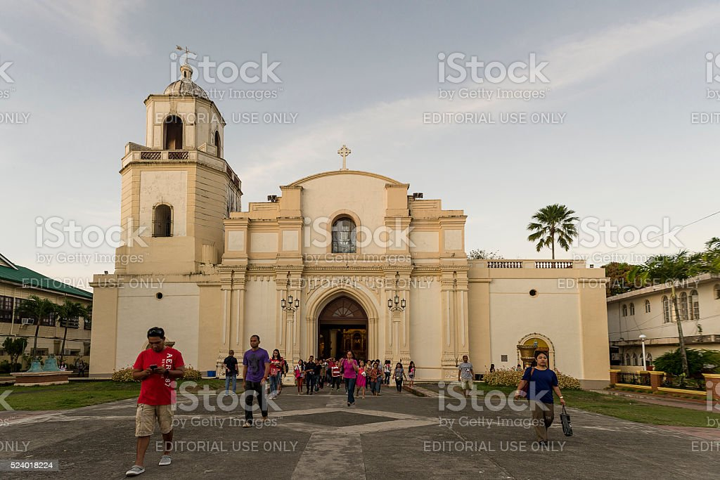 Church in iloilo stock photo