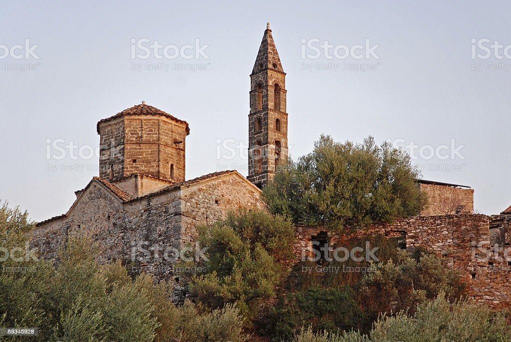 Church in Kardamili stock photo