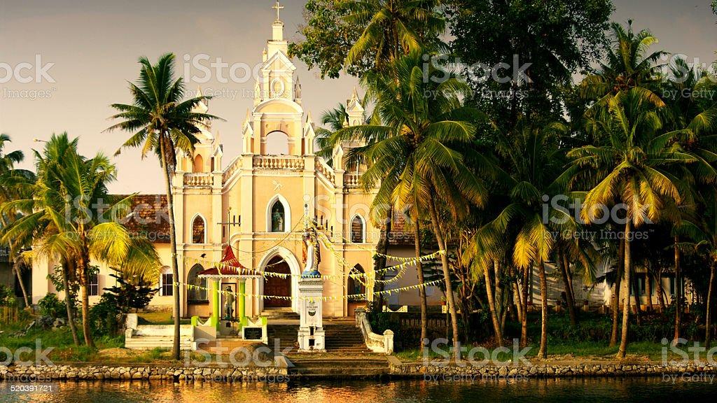 church in Kerala stock photo
