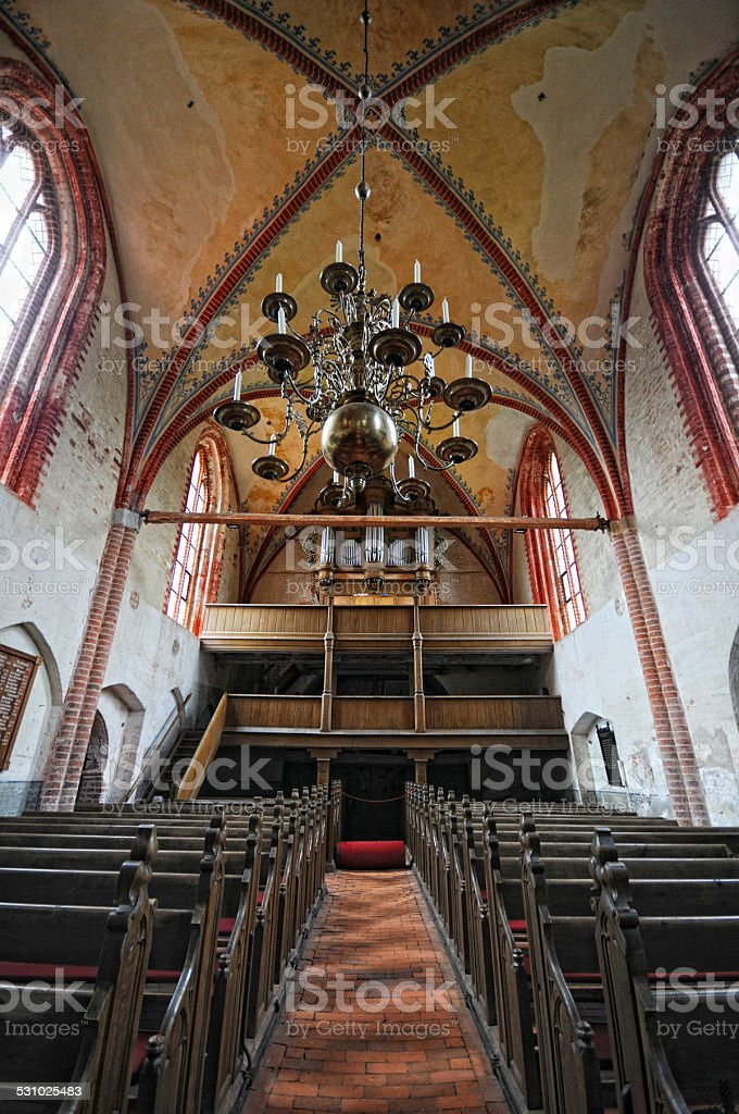 Church in Kirchdorf at Poel Isle (Germany) stock photo