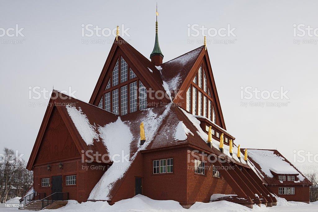 Church in Kiruna stock photo