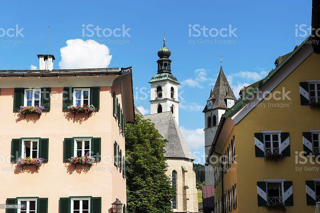 Church in Kitzbuhel, Austria stock photo