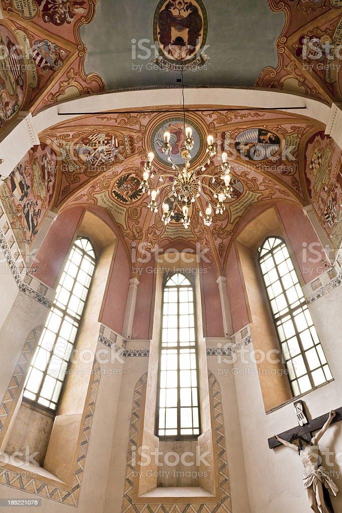 Church in Ljubljana, Slovenia royalty-free stock photo
