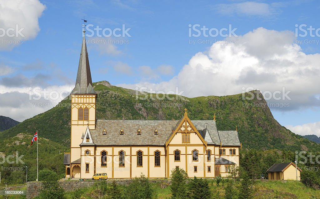 Church in Lofoten islands. royalty-free stock photo