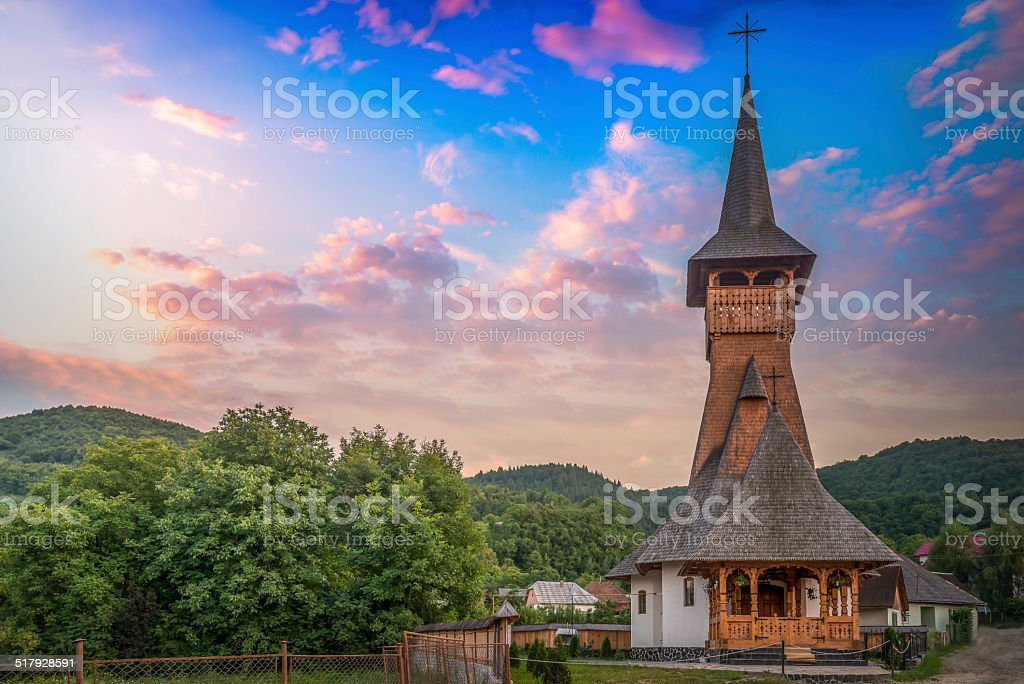 Church in Maramures stock photo