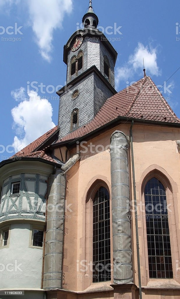 church in Marbach at summer time stock photo