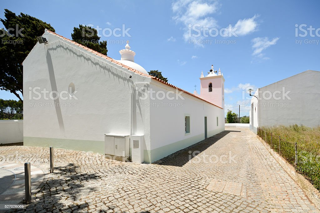 Church in Marmelete, Serra de Monchique, Rural Algarve Portugal stock photo