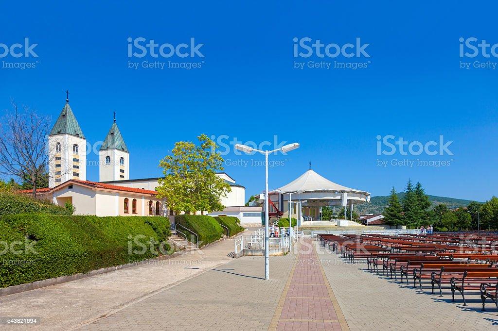 Church in Medjugorje stock photo