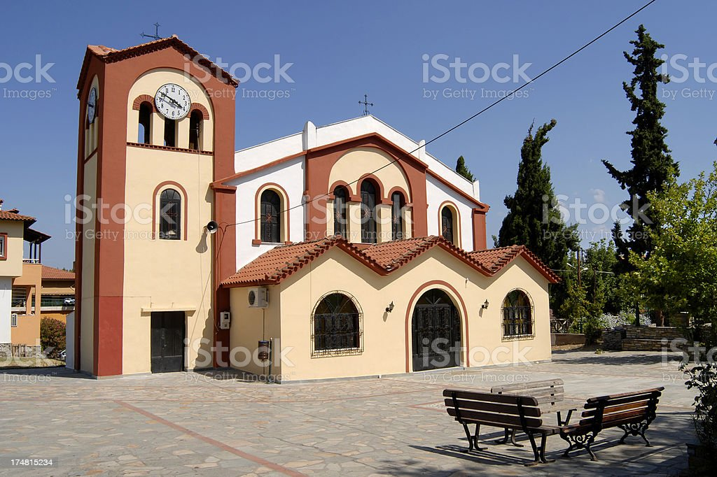 Church in Metamorfosi - Sithonia royalty-free stock photo