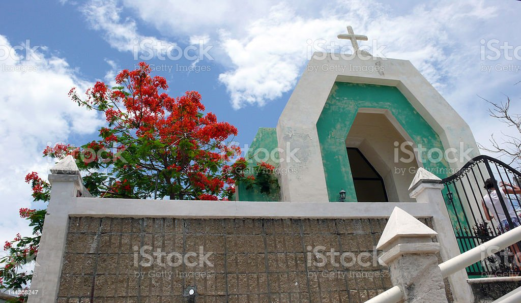Church in Mexico royalty-free stock photo
