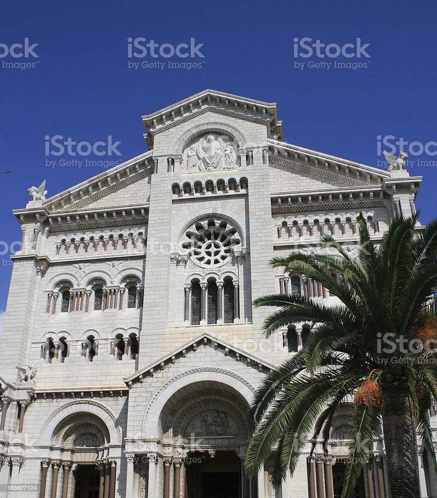 Church in Monaco stock photo
